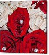 Roses And Diamonds Acrylic Print