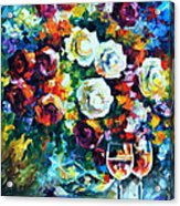Roses And  Acrylic Print