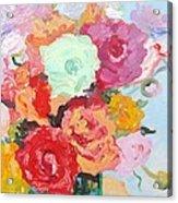 Roses And Ranunculus 2011 Acrylic Print
