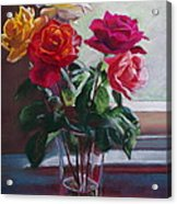 Roses By The Window Acrylic Print
