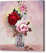 Roses In Glass Acrylic Print