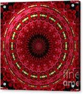 Roses Kaleidoscope Under Glass 12 Acrylic Print