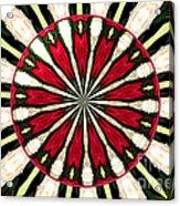 Roses Kaleidoscope Under Glass 17 Acrylic Print