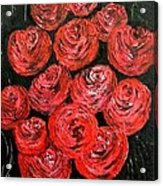 Roses Acrylic Print by Kat Poon