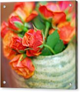 Roses Acrylic Print by Lisa Phillips