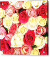Roses Of Love Acrylic Print
