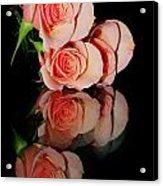 Roses On Glass Acrylic Print