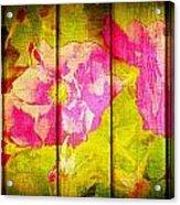 Roses On Wood Acrylic Print