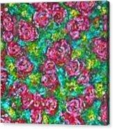 Roses Pattern Acrylic Print