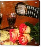 Guitar 'n Roses Acrylic Print
