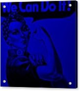 Rosie In Blue Acrylic Print