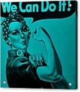 Rosie In Turquoise Acrylic Print
