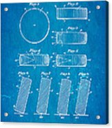 Ross Ice Hockey Puck Patent Art 1940 Blueprint Acrylic Print