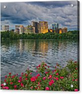 Rosslyn Virginia Sunset From Across The Potomac River Acrylic Print