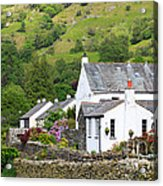 Rosthwaite In The Valley Of Borrowdale Lake District Acrylic Print