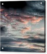 Rosy Clouds Acrylic Print
