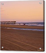 Rosy Evening At Isle Of Palms Acrylic Print