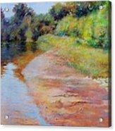 Rosy River Acrylic Print