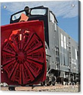 Rotary Snow Thrower 99201 In The Colorado Railroad Museum Acrylic Print