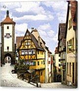 Rothenburg Marketplatz Acrylic Print