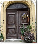 Rothenburg Ob Der Tauber Door  Acrylic Print
