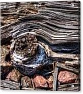 Rotted Railroad Tie Acrylic Print