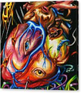 Rotting Heart Acrylic Print