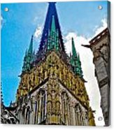 Rouen Church Steeple Acrylic Print