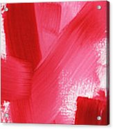 Rouge- Vertical Abstract Painting Acrylic Print