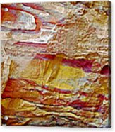 Rough And Red Rock In Petra-jordan  Acrylic Print