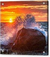 Rough Sea Square Acrylic Print