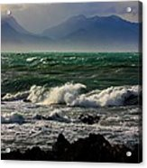 Rough Seas Kaikoura New Zealand Acrylic Print