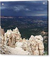 Rough Skys Over Bryce Canyon Acrylic Print