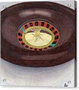 Roulette Wheel Acrylic Print by Bav Patel