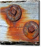 Round And Rusted Acrylic Print