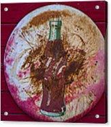 Round Coke Sign Acrylic Print