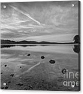 Round Valley Sunburst Bw  Acrylic Print