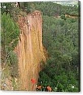 Roussillon Red Rock Landscape Acrylic Print
