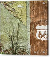 Route 66 Brick And Mortar Acrylic Print