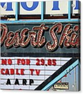 Route 66 - Desert Skies Motel Acrylic Print