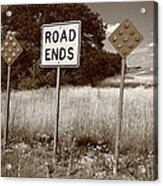 Route 66 - End Of The Road Acrylic Print