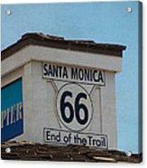 Route 66 - End Of The Trail Acrylic Print by Kim Hojnacki