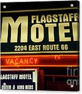 Route 66 Flagstaff Motel Acrylic Print