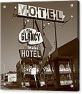 Route 66 - Glancy Motel Acrylic Print