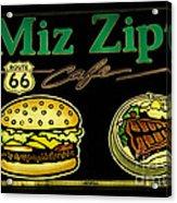 Route 66 Miz Zips Acrylic Print