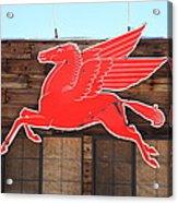 Route 66 - Mobil Pegasus Acrylic Print