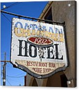 Route 66 - Oatman Hotel Acrylic Print