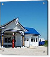 Route 66 Odell Il Gas Station 02 Acrylic Print