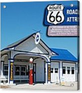 Route 66 Odell Il Gas Station Signage 01 Acrylic Print