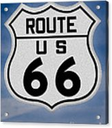 Route 66 Road Sign Acrylic Print